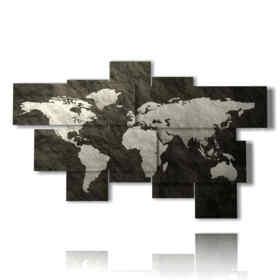 quadro moderno mappa del mondo