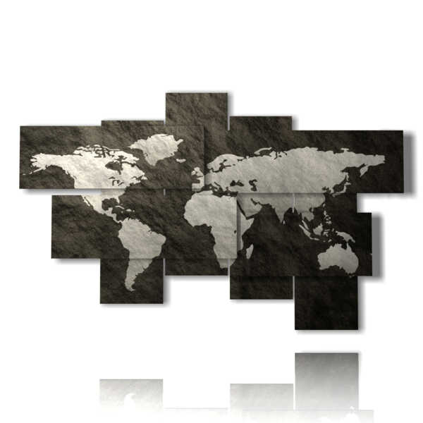 Abstract world map picture