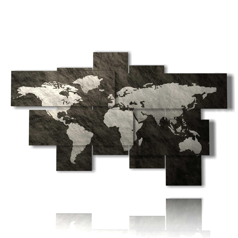 Quadro Cartina Mondo.Quadro Mappa Del Mondo Astratto 3d Design By Duudaart