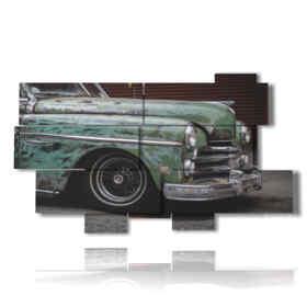 quadri di automobili vintage verde