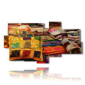 foto moderne per quadri con cuscini indiani