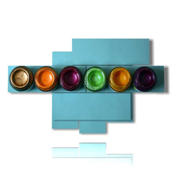 cuadro de la cuadro abstracta en tarros