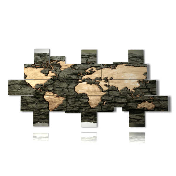 Globe cuadros modernos en madera