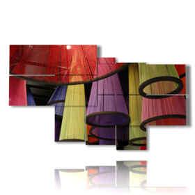quadro moderno su tela di lampadari colorati