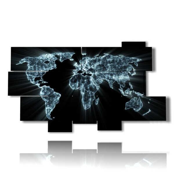 cuadro con el mapa mundial de la Tierra imágenes