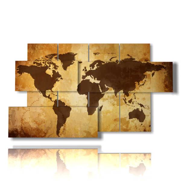 Bild mit künstlerischen Fotos Globus braun