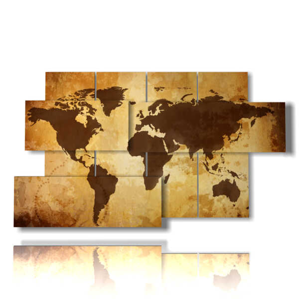 picture with artistic photos globe brown