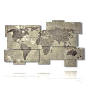quadro mondo grigio antico