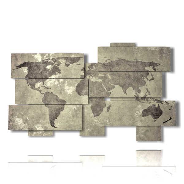 cuadro viejo mundo gris