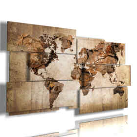paintings with modern map of the world