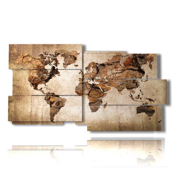 quadri con mappamondo moderno