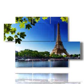 quadro con stampa torre Eiffel in primavera