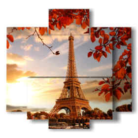 picture of the Eiffel Tower prints in autumn