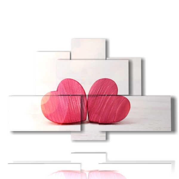 quadri astratti con cuori piccolini MULTILIVELLO 3D Design