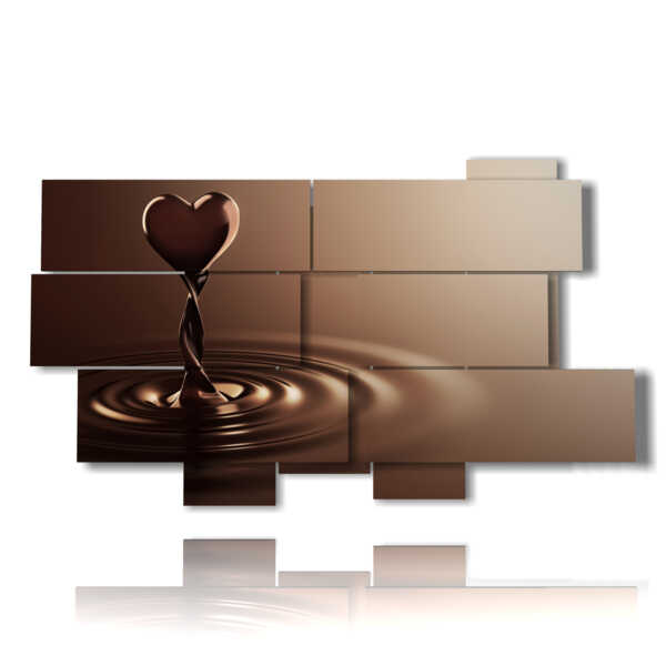 quadro con il cuore di cioccolato
