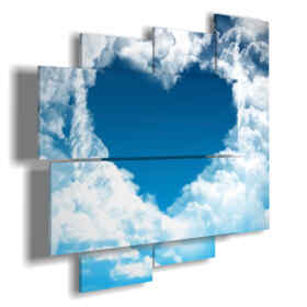 cuadros con el corazón en las nubes