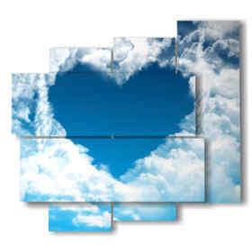 tableaux avec le coeur dans les nuages