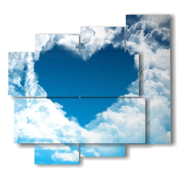 paintings with the heart in the clouds