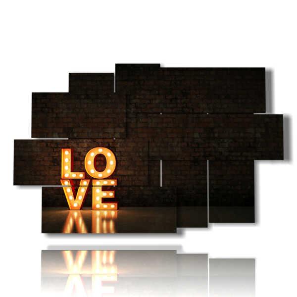scritte quadri Love