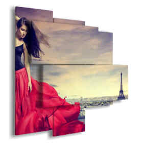 part of Paris with great pictures woman in red