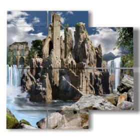 cuadros modernos con paisaje de fantasía