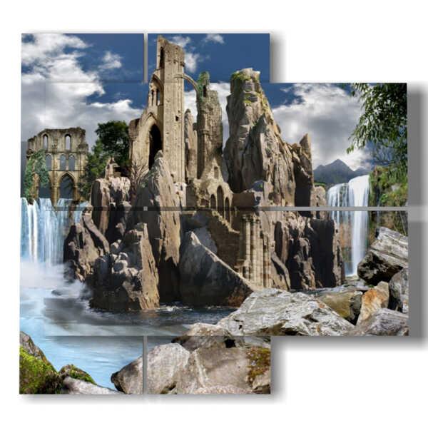 quadri moderni fantasy con paesaggio