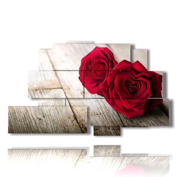 quadro cuori di fiori