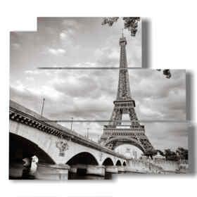 tableaux célèbres de Paris en noir et blanc
