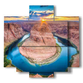 Modern paintings with Grand Canyon mountain scenery