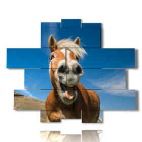 Modern modern paintings with laughing horses