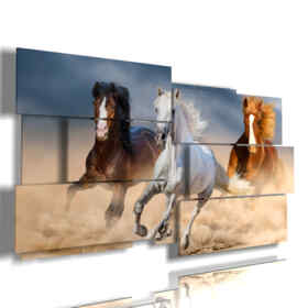 paintings with horses running