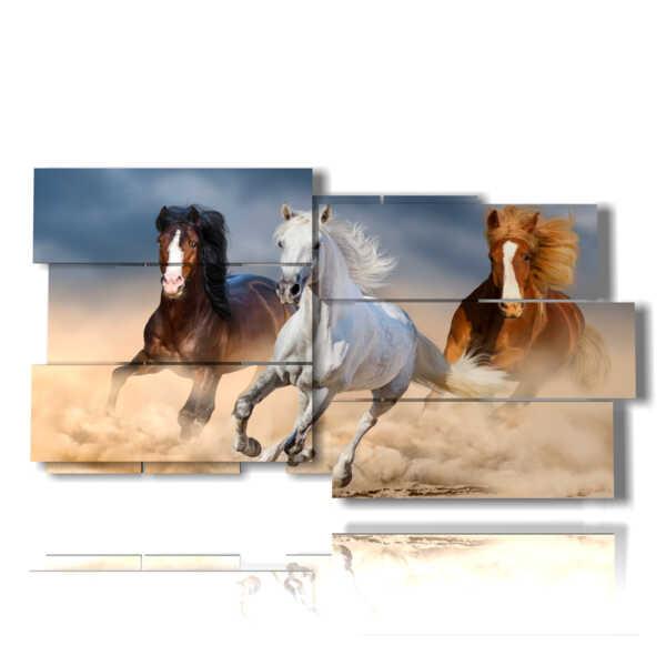 cuadros con caballos corriendo
