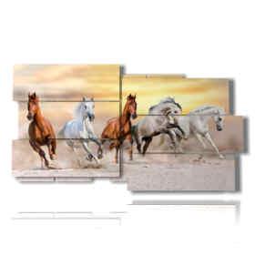 Happy horses Modern paintings