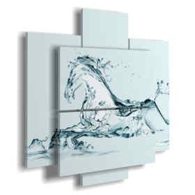 tableaux avec des chevaux stylisés dans une fantaisie en eau