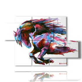 imágenes de cuadros pintadas con caballos de fantasía