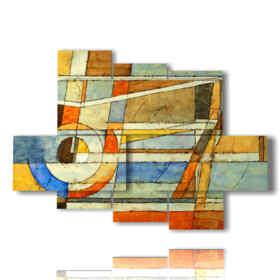 immagini quadri geometrici color pastello
