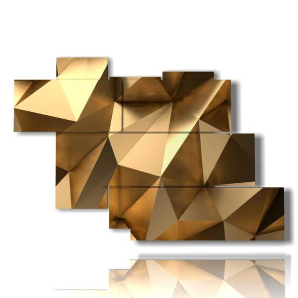 imágenes de cuadros geométricas de oro