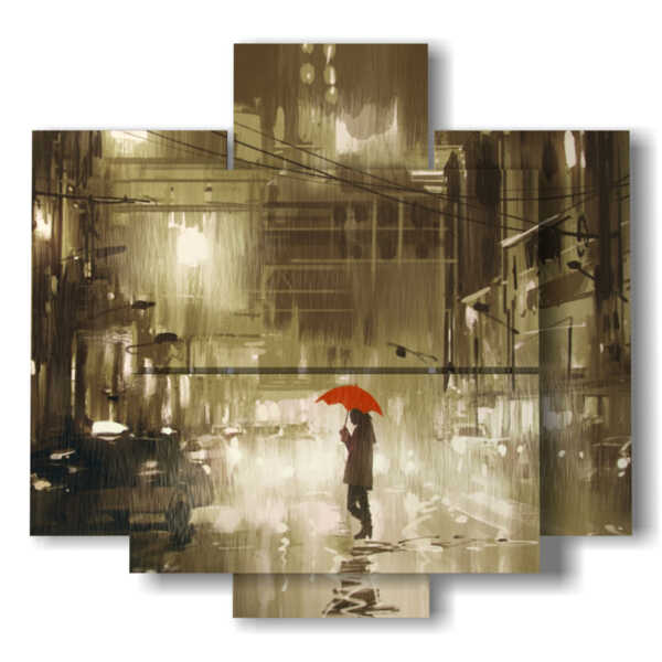 quadri romantici a pannelli