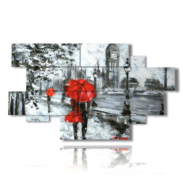 cuadros abstractas famosas de paseo romántico
