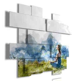 cuadros de la foto de la naturaleza en la meditación