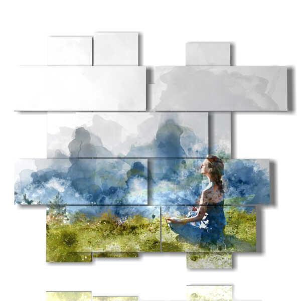 photo frames nature in meditation