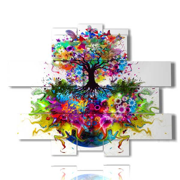 nature, paintings tree in bloom