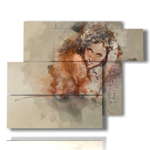 quadri con donne tristi e tenebrose