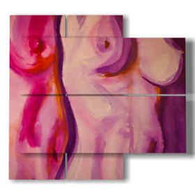 quadri con donne stilizzate nella bellezza del corpo