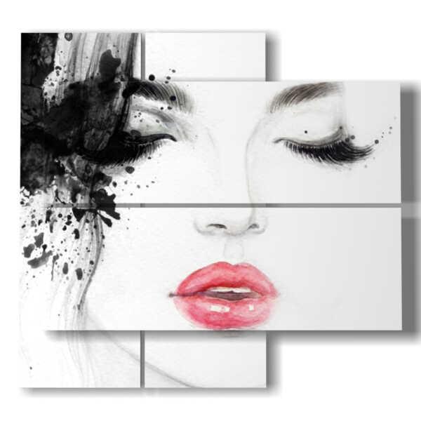 quadri donne tristi ma attraenti