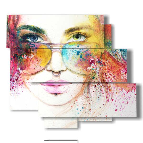 quadri donne moderne a colori