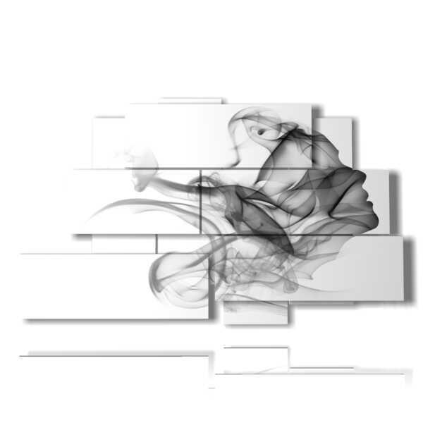 quadro dedicato alle donne in un profilo di fumo grigio