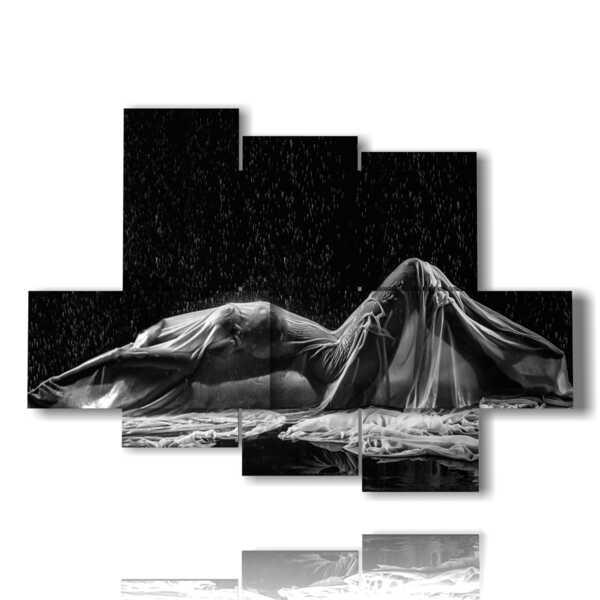 quadri arte donne sexi sotto la pioggia
