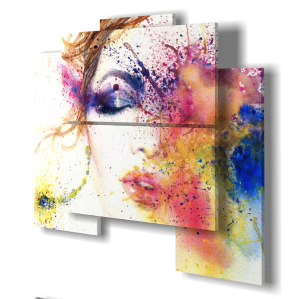 Paintings Abstract Painting Women Eye Tipologia 160509 05 Pannelli 89x77cm