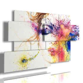 quadri donne astratti occhio di pittura